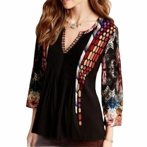Ranna Gill Anthropologie Embroidered Too Tunic